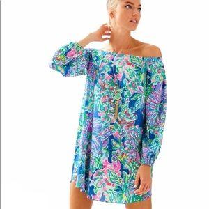 Lilly Pulitzer Adira Off Shoulder Silk Dress XXS